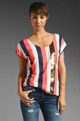 Sass & Bide The Arrival Sequin Stripe Tee - Lyst