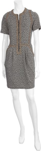 Sea  Leopard Combo Dress in Gray (leopard) - Lyst