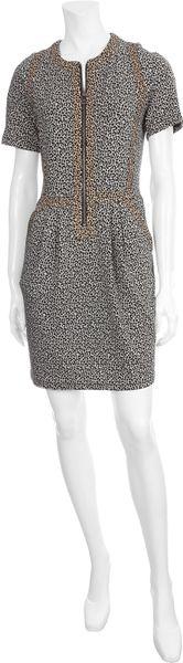 Sea  Leopard Combo Dress in Gray (leopard)