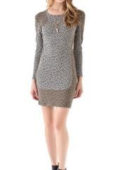 Sea Leopard Combo Sheath Dress - Lyst