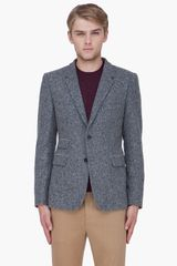 Shipley & Halmos Grey Wool Monarch Blazer - Lyst