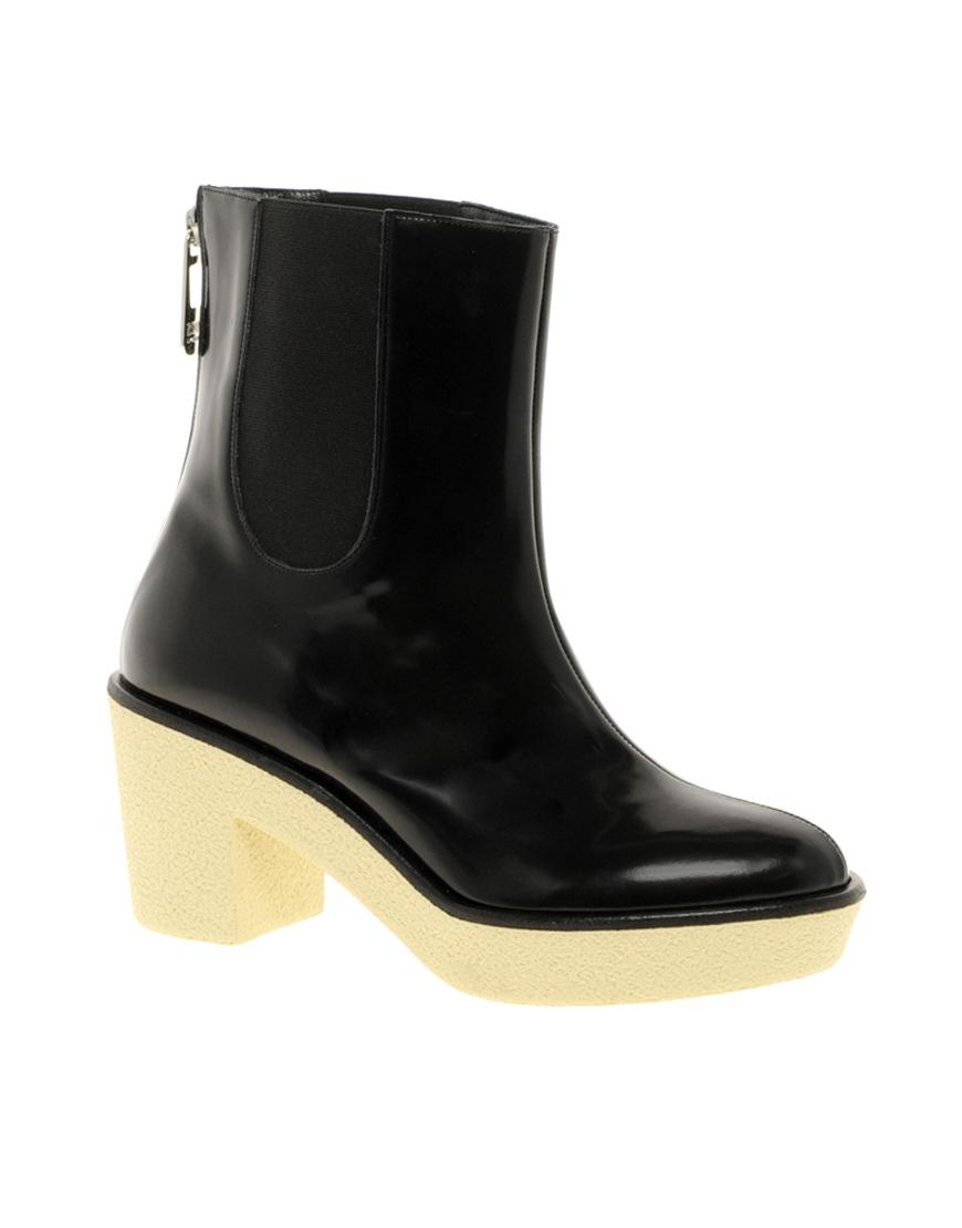 by rykiel heeled chelsea boots in black lyst