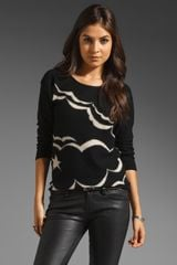Sonia By Sonia Rykiel Feutree Intarsia Sweater in Noirsable - Lyst