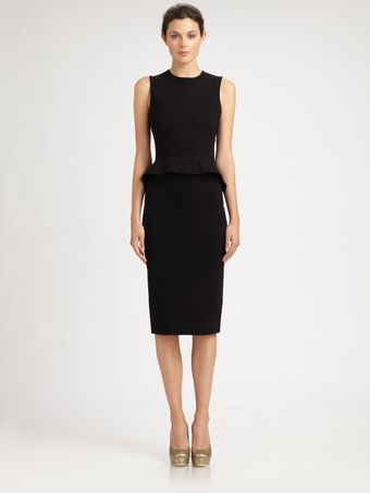 Stella McCartney Sleeveless Peplum Dress - Lyst