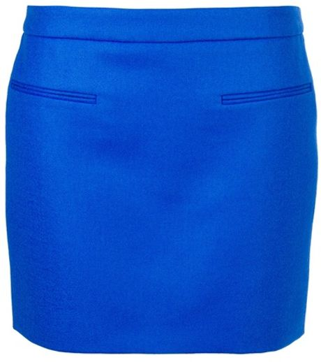 Stella Mccartney Wool Mini Skirt in Blue - Lyst