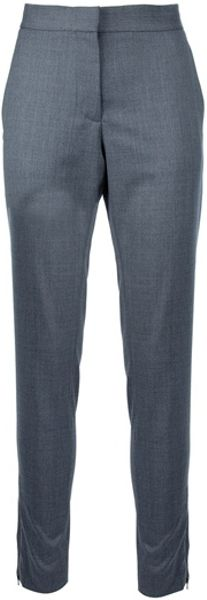 Stella Mccartney Tapered Trouser in Gray (grey) - Lyst
