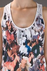 Stella Mccartney Printed Vest in White - Lyst
