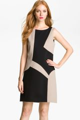 Suzi Chin For Maggy Boutique Colorblock Mod Shift Dress - Lyst