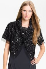 Tarnish Bouclé Bolero - Lyst
