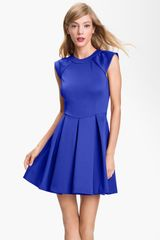 Ted Baker Pleated Aline Dress - Lyst