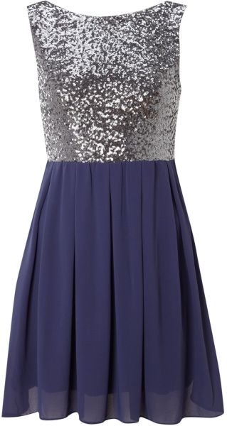 Tfnc Sarah Dress in Blue (mauve) - Lyst