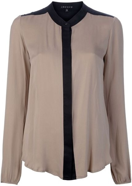 Theory Gerine Blouse in Beige
