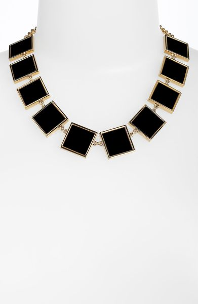 Tory Burch Necklace  in Black (black/ gold) - Lyst