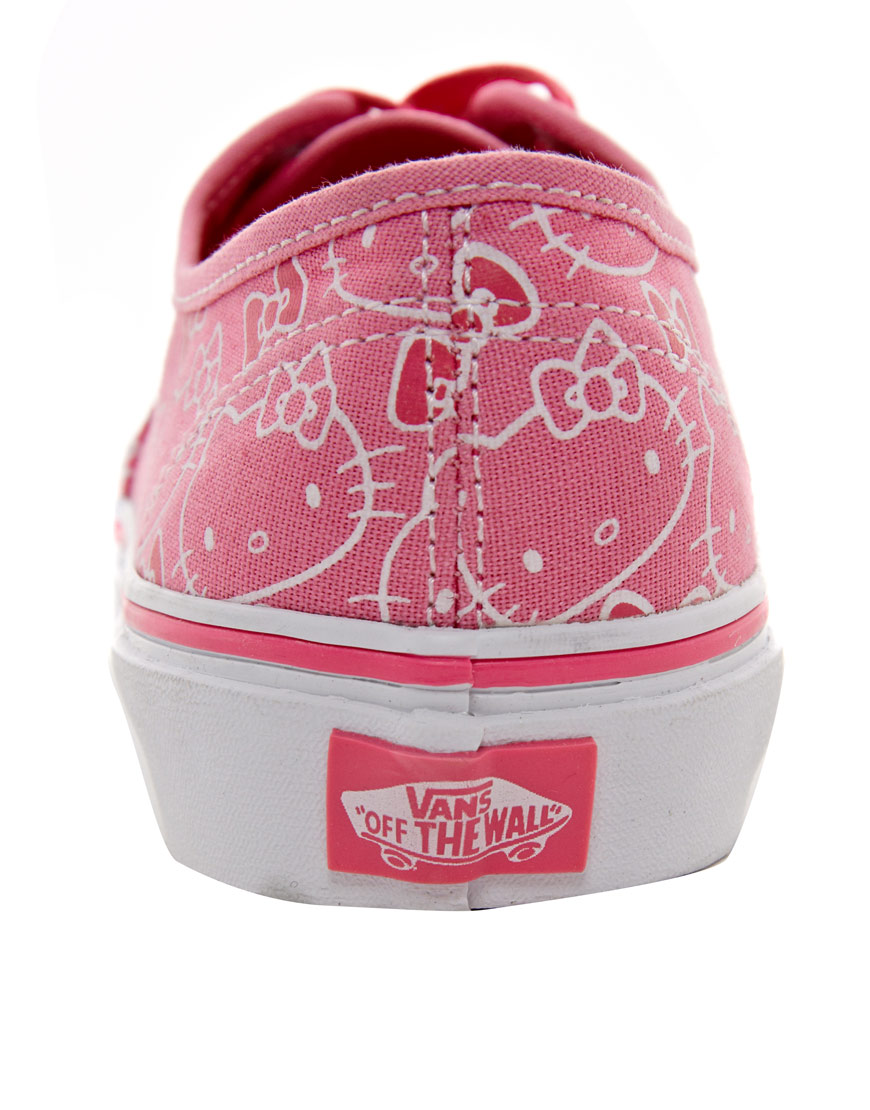 3642ce5eff Lyst - Vans Authentic Hello Kitty Lace Up Trainers in Pink