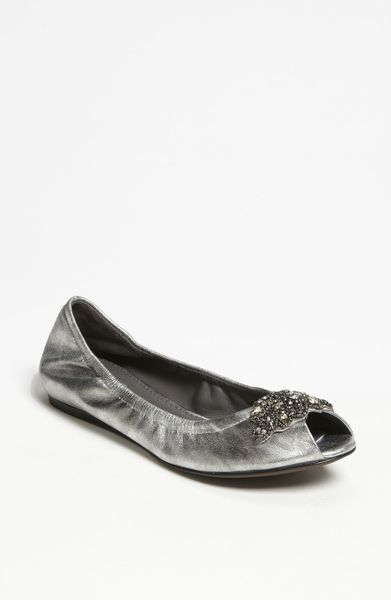 Vera Wang Footwear Lanelle Hidden Wedge Flat in Silver (antique silver) - Lyst
