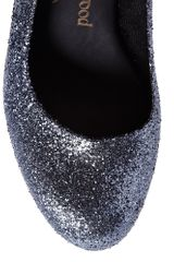 Vivienne Westwood Skyscraper Glitter Court Shoes in Silver - Lyst