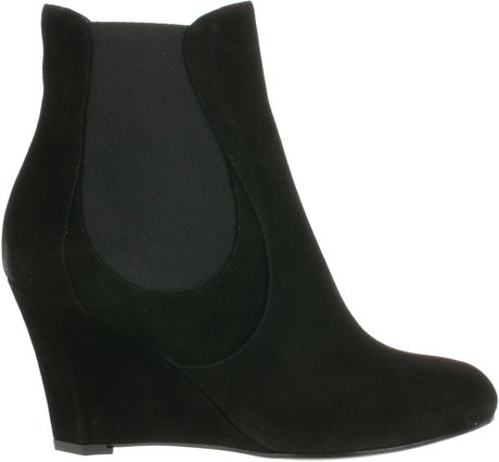 Saint Laurent Boots in Black Suede in Black - Lyst