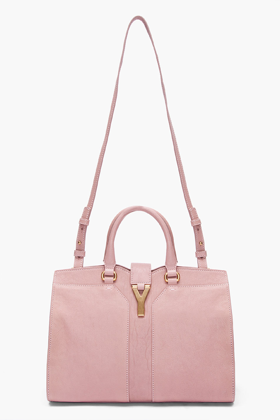 Saint laurent Mini Pastel Pink Cabas Chyc Bag in Pink | Lyst
