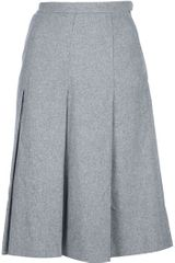 Yves Saint Laurent Vintage Pleated Skirt - Lyst