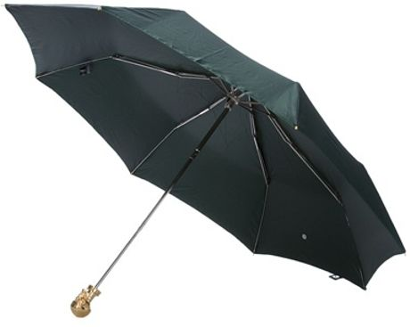 Alexander Mcqueen Skull Umbrella in Green