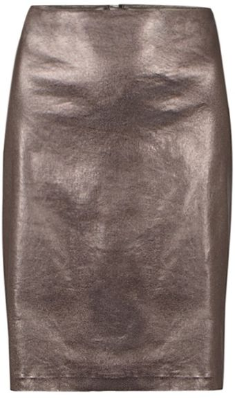 AllSaints Metal Pencil Skirt - Lyst