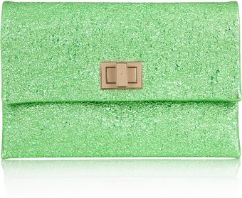 Anya Hindmarch Valorie Metallic Leather Clutch - Lyst