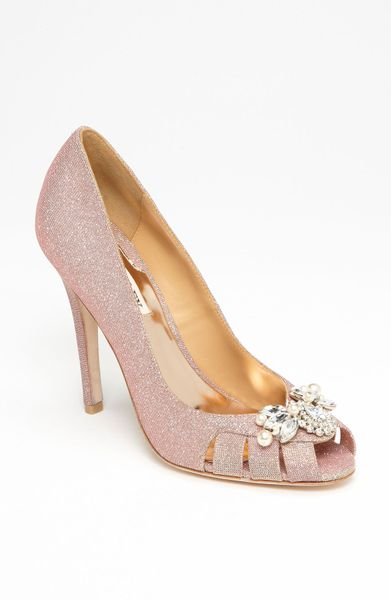 Badgley Mischka Monique Pump in Pink (rose gold)