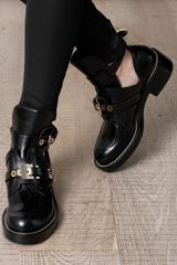 Balenciaga Cutout Leather Ankle Boots in Black - Lyst