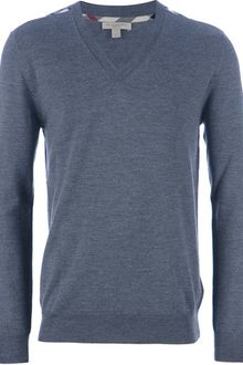 Burberry Brit Vneck Sweater - Lyst