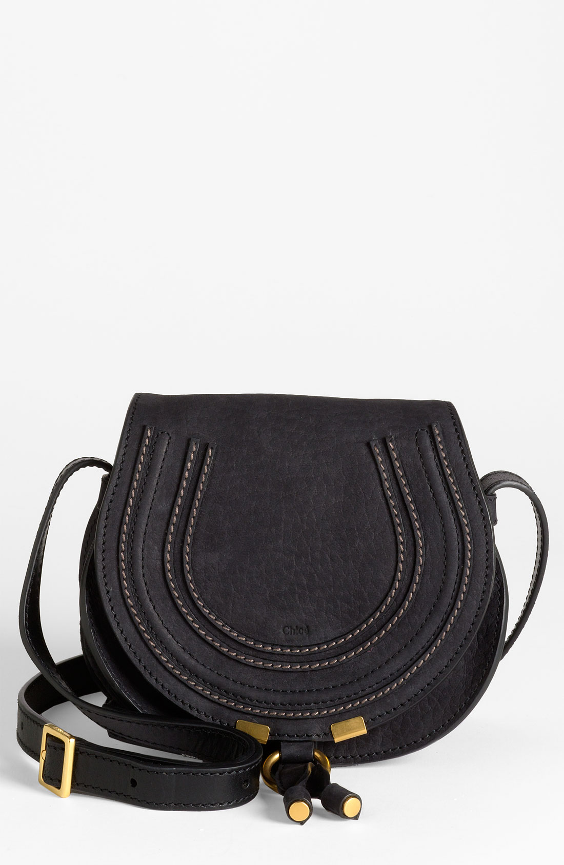 chlo marcie crossbody bag in black lyst. Black Bedroom Furniture Sets. Home Design Ideas