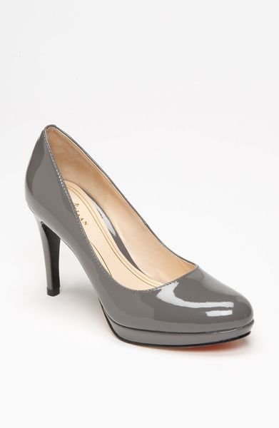 Cole Haan Chelsea Pump in Gray (ironstone patent) - Lyst