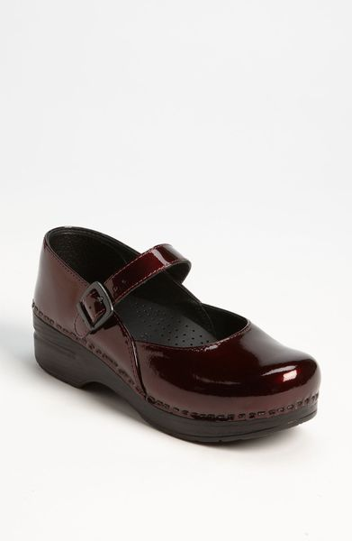 Dansko Professional Mary Jane Clog In Brown Black Cherry