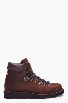 Diemme Dark Brown Distressed Leather Roccia Vet Boots - Lyst