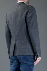 Dolce & Gabbana Tweed Blazer in Gray for Men (grey) - Lyst