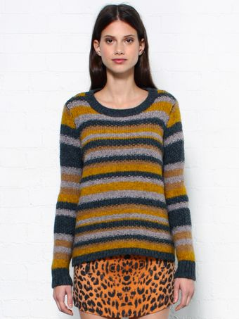Elizabeth And James Striped Knit Jumper - Lyst