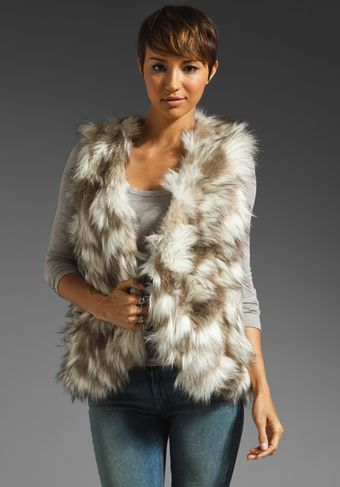 Free People Call Of The Wild Fur Vest - Lyst
