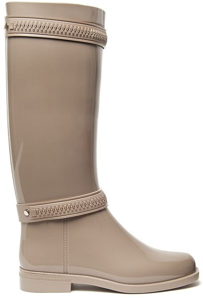 Givenchy Zipper Rain Boot in Gray (grey) - Lyst