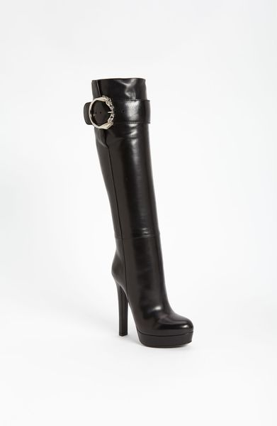 Gucci Josephine Tall Boot in Black - Lyst