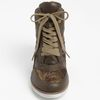 Jeffrey Campbell Gio Hidden Wedge Sneaker in Brown (khaki gold) - Lyst