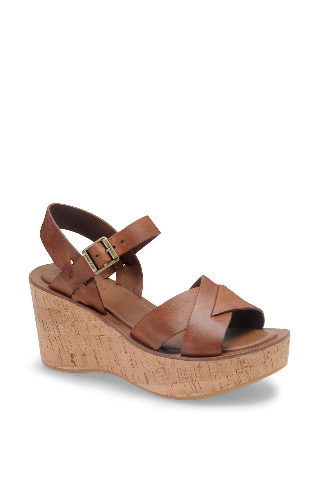 Kork Ease Korkease Ava Wedge Sandal In Brown Rust Lyst