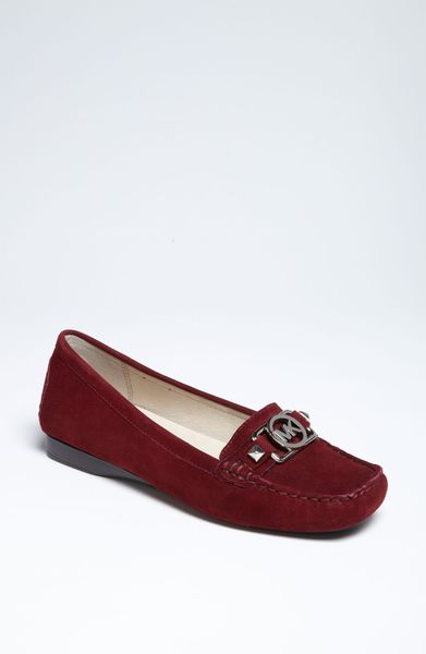 michael michael kors charm moccasin in red bordeaux lyst. Black Bedroom Furniture Sets. Home Design Ideas