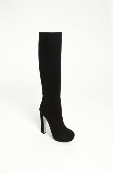 Miu Miu Tall Boot in Black - Lyst