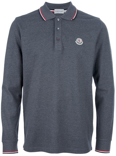 moncler grey polo mens