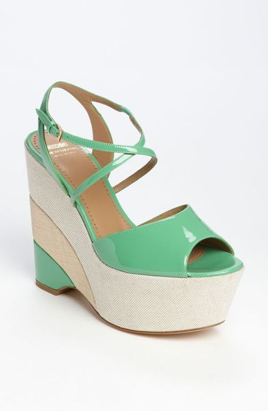 Moschino Cheap & Chic Sandal in Green (green/ ivory/ beige) - Lyst