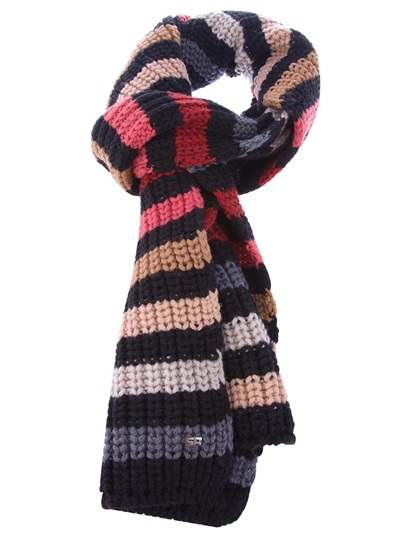 ec2282cbcb Sonia Rykiel Striped Scarf in Black - Lyst