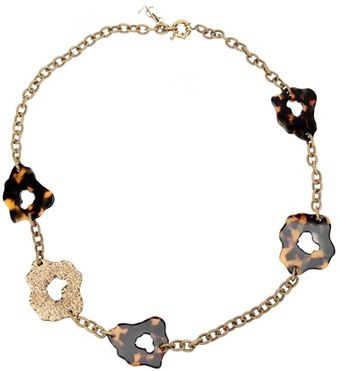 Yves Saint Laurent Leopard Print Necklace - Lyst
