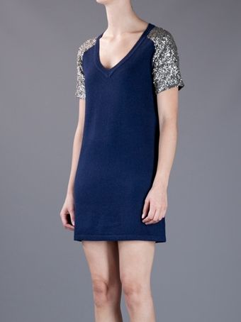 Crumpet Sequin Sleeve Dress - Lyst
