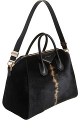 Givenchy Ponyhair Large Antigona Duffel in Black - Lyst