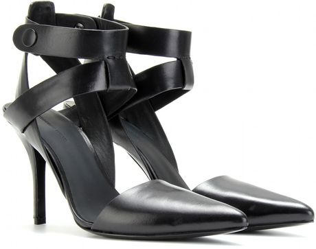 Alexander Wang Sonja Midheel Pumps in Black - Lyst