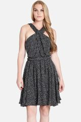 Cynthia Steffe Amara Print Cross Neck Silk Dress - Lyst